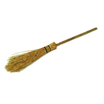 Dollhouse Halloween Witch Broom Six Inches Long Artisan 1:12 Scale Miniature
