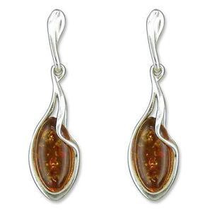 38ff53aec Silver Amber Earrings