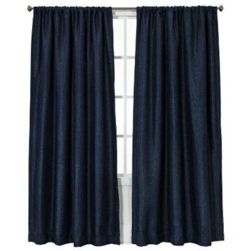 Navy Blue Curtains Ebay