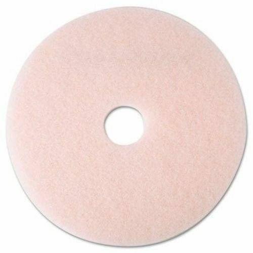 "3M 3600 Eraser Burnish Pads, 20"" Diameter, Pink, Case of 5 Pads"