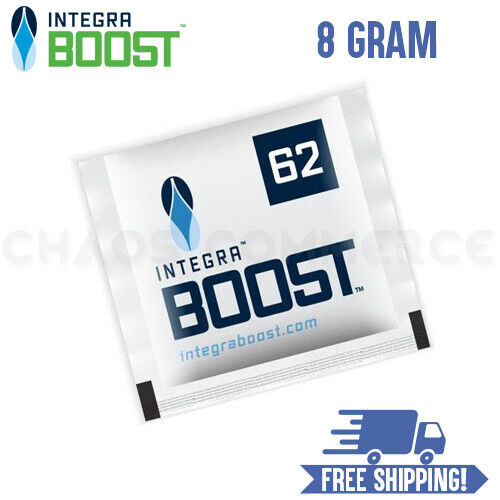 Integra Boost RH 62% 8 Gram 2 Way Control Humidity Packs - Choose Quantity