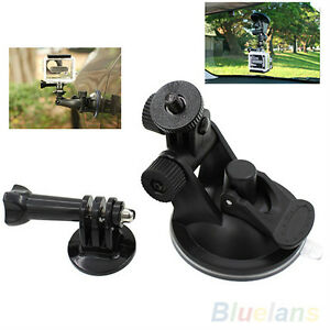 "GoPro Durable Car Suction Cup+1/4"" Tripod Mount Adapter+Screw"