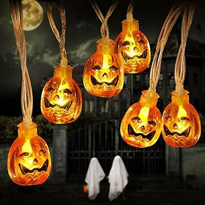YUNLIGHTS Halloween Pumpkin String Lights 13FT 30 LED Halloween Decoration Li...