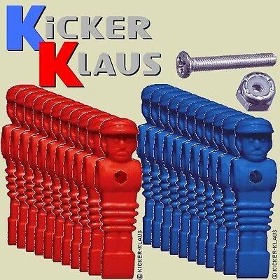 Art. 1620: Set Kickerfiguren,Kickerpuppen,Soccerfiguren 11 x Rot, 11 x Blau