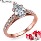 F Pear Solitaire with Accents Diamond Engagement Rings