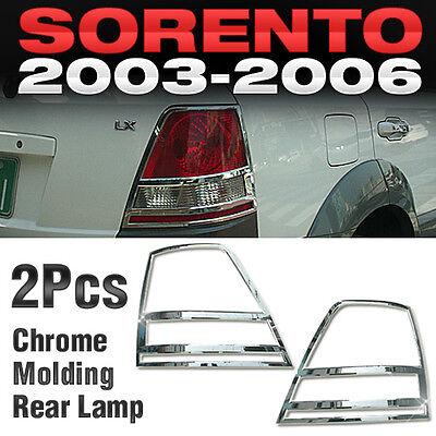 Chrome Rear Light Lamp Garnish Molding Cover Trim A373 For KIA 2003-2006 Sorento