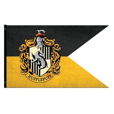 Harry Potter New * Hufflepuff Outdoor Flag * 30 x 60 Weatherproof Banner - Hufflepuff Banner