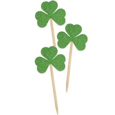 Shamrock Picks St Patrick's Day Party Supplies Decorations Cupcake Picks
