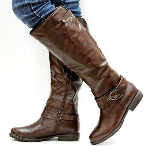 Womens Brown Riding Boots Ebay