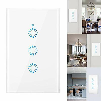 Interruptor De Pared Tactil Luz Inteligente Luces Control Voz WiFi Temporidazor