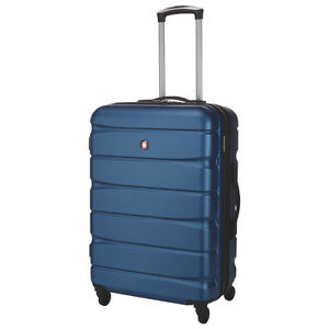 "*SWISS GEAR* WALEN 24"" Expandable SPINNER LUGGAGE - BLUE"