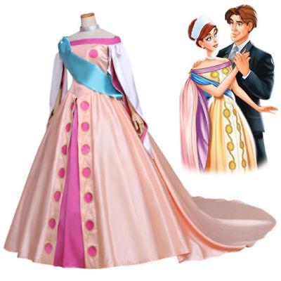 Princess Anastasia Dress Costume Cosplay Movie Anastasia dress Custom Made COS - Anastasia Costume