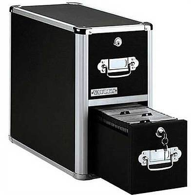 Vaultz Locking Cd File Cabinet 2 Drawers Sturdy High-capacity Cd Storage