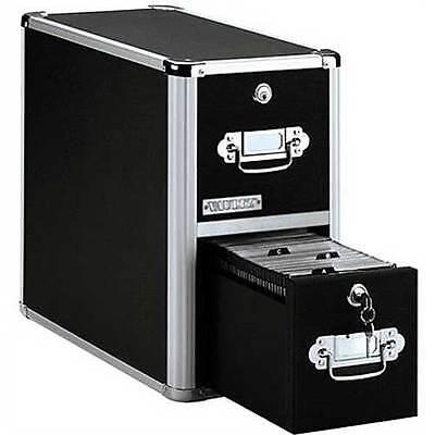 Vaultz Locking Cd File Cabinet 2 Drawers Sturdy High-capacity Cd Storage