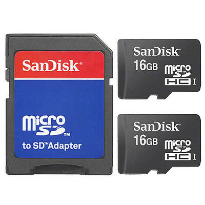 2 Pack SanDisk Class 4 16GB=32GB MicroSD SDHC TF Flash Memory Card W/SD Adapter