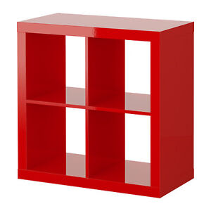 Red Ikea EXPEDIT Rouge