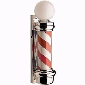 Boxed & New Red and White Dome Barber pole for Out Door Use