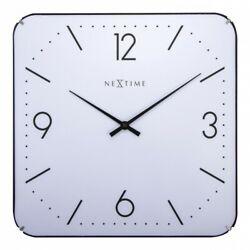 Boyle NeXtime Stylish Wall Indoor Clock Basic Square Dome - White