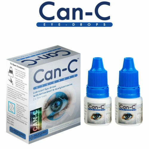 Can-C Lubricant Eye Drops For Cataract, N-Acetylcarnosine 2 X 5 ml *Exp 05/2022