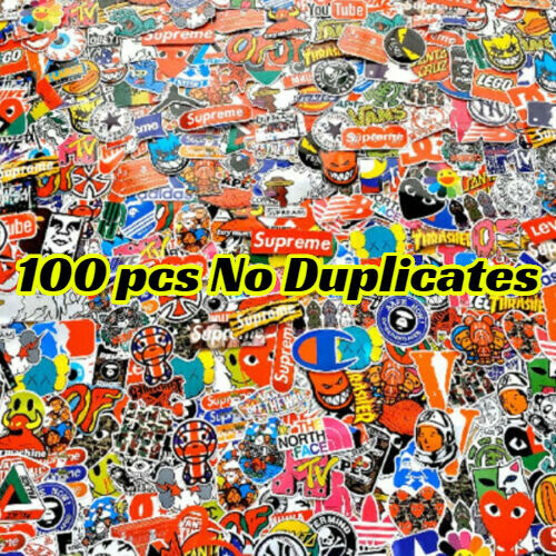 100 Waterproof Skateboard Sticker Bomb Laptop Luggage Decals Dope Sticker Bottle