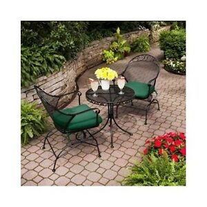Iron Bistro Set Patio Garden Furniture Wrought Cast