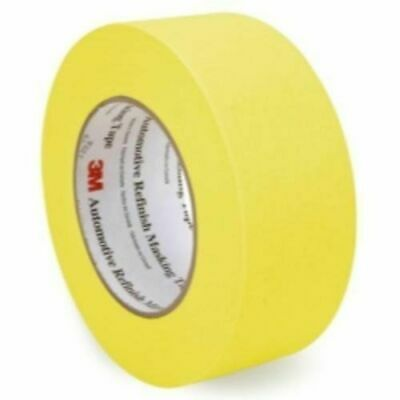 3M 06656 Crepe Paper Automotive Refinish Masking Tape 1 1/2 Inch, 6 Pack, Yellow
