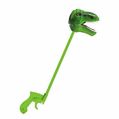 Creative Play: Green T-Rex Snapper Toy Play Hand Painted Sturdy Safari New