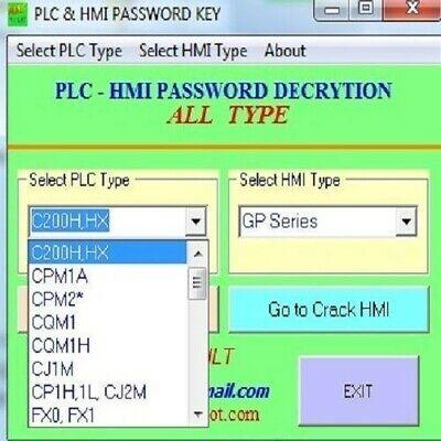 Unlock Password PLC software (PLC & HMI) ,unlimited version.