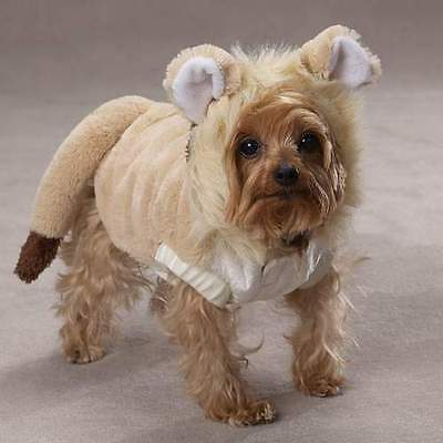 Casual Canine Lil' Lion Dog Costume Soft Plush Mane Tail Hook and Loop Closure