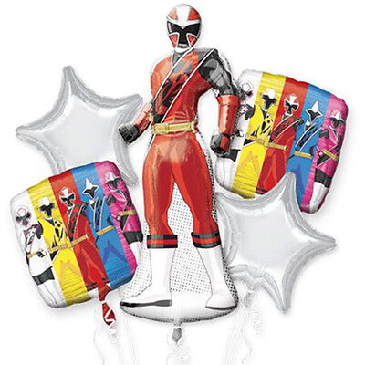 Power Rangers SABAN Ninja Steel Balloon Bouquet Boys Birthday Party Decoration  - Power Rangers Party Decorations