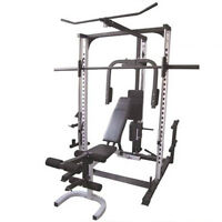Full Gym Equipment (Smith Sys, Bench, Leg Extension, Weight Set)