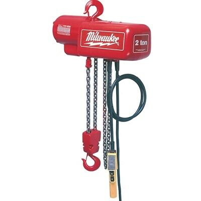 Milwaukee 9560 12 Ton Electric Chain Hoist - 10 Ft.
