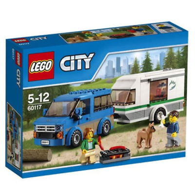 LEGO 60117 City Great Vehicles Van and Caravan Toy 5-12 Years BNIB Free UK (Lego City Great Vehicles Van And Caravan)