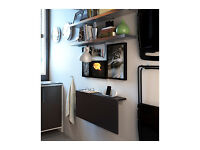 Ikea Bjursta Wall-mounted Fold-down Desk / Table in Black