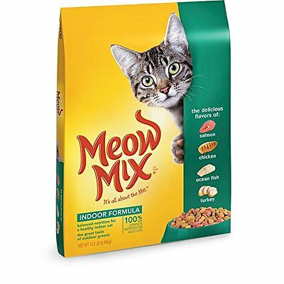Meow Mix Indoor Formula Dry Cat Food  14 2 Pound   New  Free Shipping