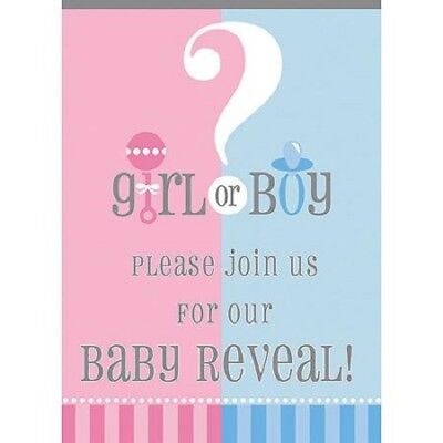 Gender Reveal Party Invitations ? Boy Girl Baby Blue Pink  Boy Celebrate  - Gender Reveal Party Invitations