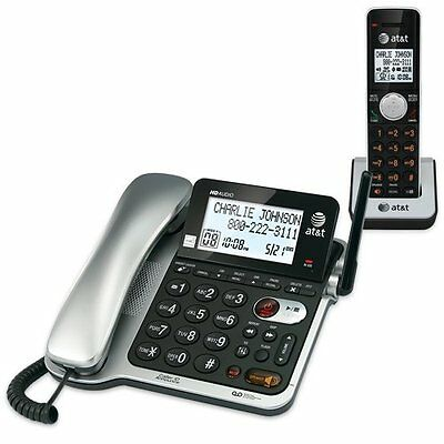AT&T CL84102 Cordless Phone - DECT - 1 x Phone Line - 1 x Handset - Answering