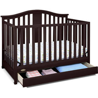 Graco Solano 4 In 1 Convertible Crib With Drawer Espresso