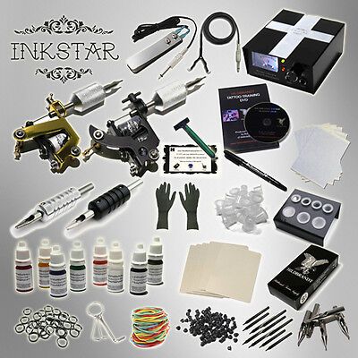 INKSTAR 2 Machine Tattoo Kit Machines Guns Equipment Ink Gun Set Tatoo TKI2B USA on Rummage