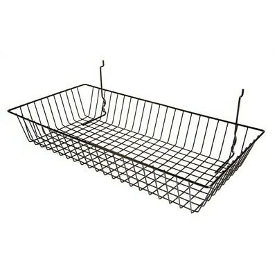 3 Pcs -24 X 12 X 4 Baskets For Gridwallslatwallpegboard - Black