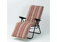 Carmel Steel Cushioned Relaxer Terracotta Stripe (Set of 2)