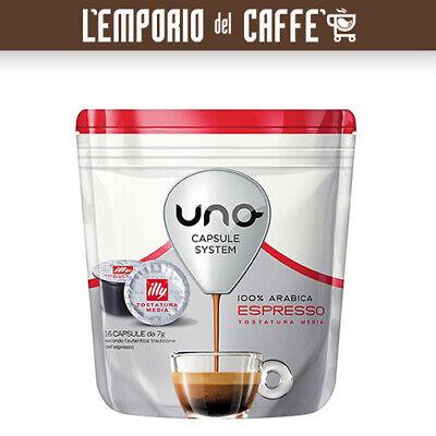 96 Cápsulas Café Illy Uno System Indesit Tostado Mediano Rojo -100% Originales