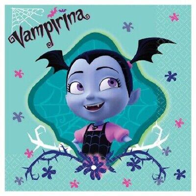VAMPIRINA BEVERAGE NAPKINS VAMPIRE HALLOWEEN BIRTHDAY PARTY TABLE DECORATION  - Halloween Party Beverages