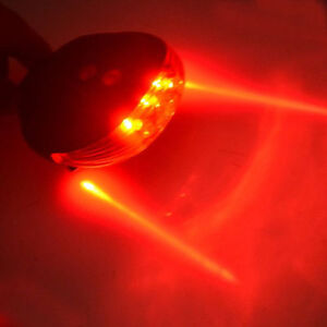 REAR LED AND LASER BEAM BIKE LIGHT RED BICYCLE CYCLE SAFETY TAILLIGHT LAMP