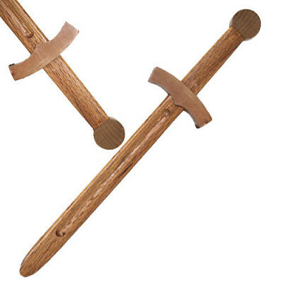 Medieval Knights Wooden Short Sword Costume Practice Play Dagger Hardwood - Wooden Sword