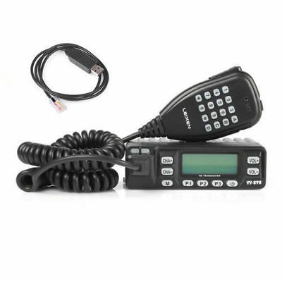 Leixen VV-898 VHF/ UHF 136-174/400-470MHz Car Truck Mobile Radio + USB Cable