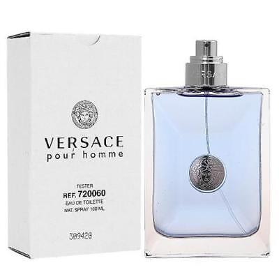 Versace Pour Homme By Versace 3.3 / 3.4 Oz EDT Spray New Tester Cologne For Men