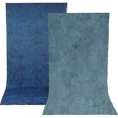 Impact Reversible Muslin Background (10 x 12', Stone Blue/Nickel) - Stone Backdrop