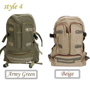 New Stylish Men Canvas Travelling Outdoor Women Backpack ...