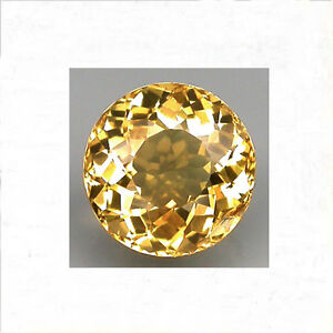 100% Natural Gem 1.23ct. 7 x 4.5 mm. Round Cut Golden Yellow Beryl Brazil.